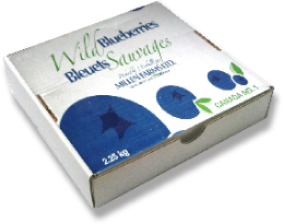 Millen Farms' Hand Raked Blueberries 2.25 kg Container